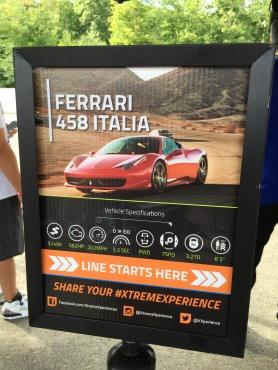 Ferrari 458 Italia sign